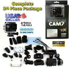 12MP Full HD 1080P Sports Action Cam 7 with 30 Piece GoPro Accessory Kit