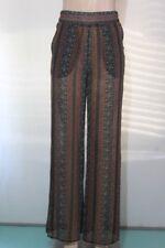 New Women's BCBG MAX AZRIA Floral-Print Pant Auburn Comb SZ M
