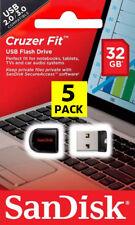 5 PACK - OEM SanDisk 32GB Cruzer Fit Mini Micro Pen Drive Flash SD USB 2.0