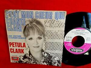 PETULA CLARK C'est mon coeur qui chante clair 45rpm 7' + PS 1968 FRANCE MINT-