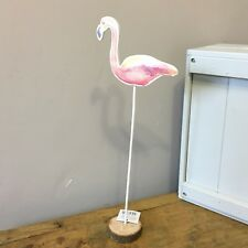 Standing flamingo decoration. Pink. Tropical, shabby chic.Ornament. Water colour