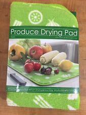 Produce Veggie Dish Drying Mat New 12 x 18 Absorbent Microfiber