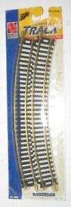 HO SCALE LIFE-LIKE #8601 PACKAGE (4 PCS) CURVED TRACK  (BRASS) NIP
