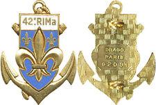 42° Régiment d'Infanterie de Marine, émail, dos guilloché, Drago 2081 (7616)