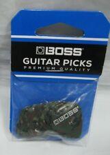 boss premium quality camo  celluliod picks guitar bass picks camo heavy