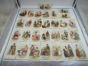 29 TRADE CARDS SINGER MFG CO 'COSTUMES OF ALL NATIONS' 1893 WORLD COLUMBIAN EXPO