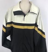 Norfleet Boardwear Jacket Coat Black Gold Cream Front Zip Size Xtra Large