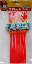 Party Straws DISNEY MICKEY MOUSE Birthday Supplies 18 Pack S2