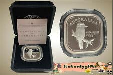 2004 - 50c. Kookaburra Silver Proof 1/2oz. Square Coin