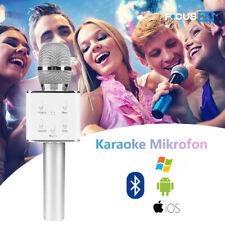 Wireless Bluetooth Karaoke Mikrofon Lautsprecher Handheld Microphone USB Silber
