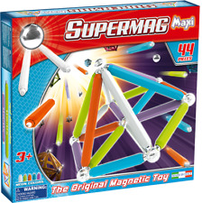 Supermag Magnetic Building Set Neon 44 Pieces