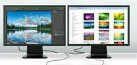 "Matching DUAL 24"" Widescreen LCD Monitors for Gaming Office PC Major Brands"