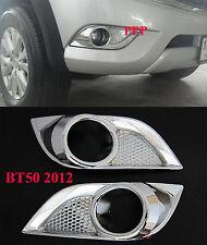 CHROME FOG SPOT LIGHT LAMP COVER FOR NEW MAZDA BT-50 PRO 2012 PICK UP 13 14