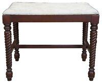 H. Willett Cherry Barley Twist Bench Seat Piano Stool Footstool Ottoman 7906