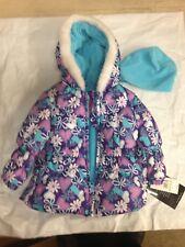 London Fog Girl's Toddler Coat w/Hat, Faux Fur, 18M, L214593-BT, Purpleflor