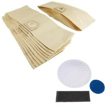 10 x Vacuum Cleaner Dust Bags & Filter For Vax 6130 Car Vax 6135 Family Vax 6155