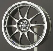 16x7 Enkei J10 5X112/114.3 +38 Silver Rims Fits Type R Talon Civic