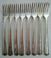 "Victor Silver Company 1/2 Appetizer Dessert Forks 5-3/4"" Lot of 8"