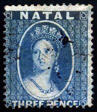 Natal. 1861. 3d. Blue. SC# 11. SG 11. Unwmk. Clean Perf 14. VF Used