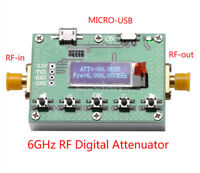 New 6G Digital Attenuator Programmable OLED Display 30DB Step 0.25DB RF Module