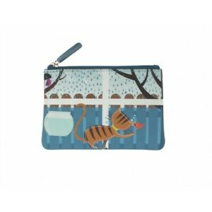 Mala Leather Pinky Cat in the Window Coin Purse - BNWT