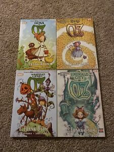 The Wonderful Wizard of Oz! Lot Of 4! Hardcovers! Skottie Young! Marvel Comics!