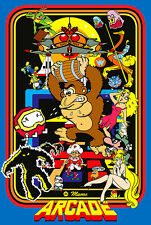 Mame Arcade Classics Game Poster |6 Sizes| Atari Amiga C64 Snes PS4 Xbox wii pi