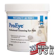 100 Top Performance ProEye PRO EYE CLEANSING PADS TEAR STAIN Wipes PET Dog Cat