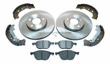 FORD FOCUS MK2 2005-2011 FRONT 2 BRAKE DISCS AND PADS & REAR SHOES SET NEW