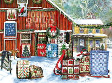 Jigsaw Puzzle Americana Quilts Holiday Designs 1000 pieces NEW Made in the USA