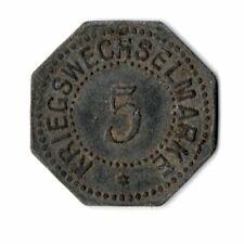 5 Pfennig Bergedorf 1917 Zink Notgeld Kriegsgeld Funck 36,1 (t45n001)