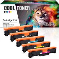 5PK Toner Cartridges for Canon 118 Color ImageCLASS MF8580CDW MF8380CDW MF726CDW