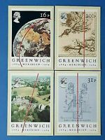 Set of 4 PHQ Stamp Postcard Set No.77 Centenary of Greenwich Meridian 1984 BX2