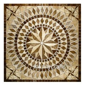 18 Inch Marble Coffee Table Top Marquetry Art Decent Look Corner table for Home