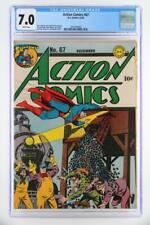 Action Comics #67 - CGC 7.0 FN/VF- DC 1943 - Early Superman!