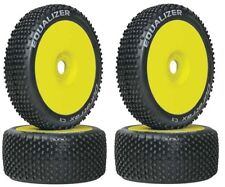 Duratrax DTXC3648 1/8 Equalizer Buggy Tires C3 Mounted on Yellow Wheels (4) F/R