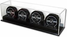 NEW Collectible Size UV Deluxe Acrylic 4 Hockey Puck Display Case Holder