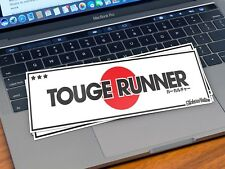 TOUGE RUNNER STICKER SLAP DECAL JDM STANCE LOW LIFE KANJI JAP FLAG