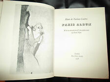 Henri De Toulouse-Lautrec PARIS ALBUM+Intro+Descript Notes by David Piper 1958