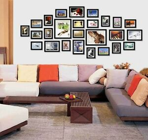 Wall Mounted 26 PCS Hanging Photo Frame Wood Dream Combination Art Home Decor