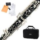 Mendini Bb Clarinet Black Ebonite Body w/ Nickel Keys