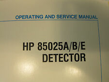 HP 85025A/B/E Detector Operating and Service Manual