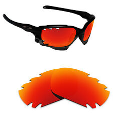 Hawkry Polycarbonate Replacement Lenses for-Oakley Jawbone Vented - Fire Red