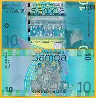 Samoa 10 Tala p-39b 2017 UNC Banknote