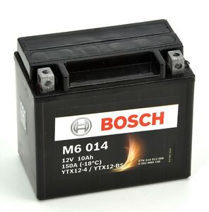 Bosch M6014 Batterie moto YTX12-BS - 12V AGM 10A/h-150A