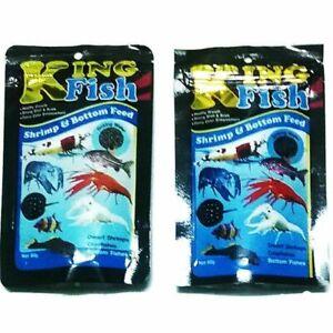 King Fish dwarf shrimp crayfish food aquarium sink flake tropical bottom 60 g.