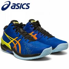 ASICS Volleyball Men's Shoes SKY ELITE FF MT Mid 1051A032 Blue With Tracking