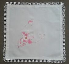Beautiful Vintage Hand Embroidered Needlepoint Tablecloth