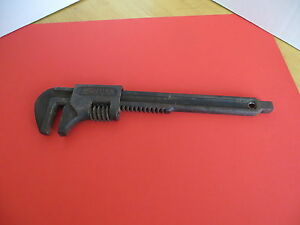 """Vintage Adjustable Monkey Wrench """"FORD USA""""  With Square Bottom   Antique Wrench"""