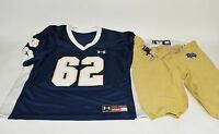 Notre Dame Football Team Issued Under Armour #62 Jersey Pants Practice Set